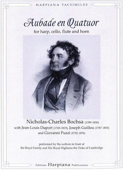BOCHSA R.N.C. : Aubade en Quatuor pour harpe, violoncelle, flûte et cor