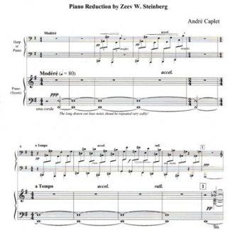 Caplet / Steinberg : Conte Fantastique, piano reduction