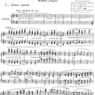 Débussy : Danse sacrée et danse profane, harpe solo