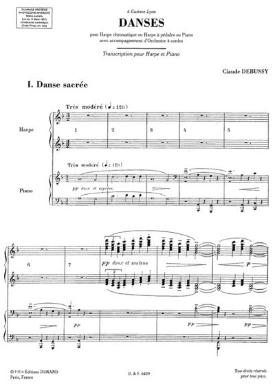 Debussy: Danse sacrée et danse profane