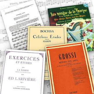 Harfenschulen, Übungsstücke, Etüden