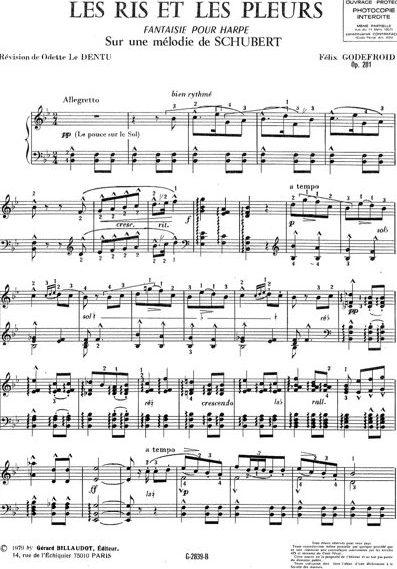 sur des mélodies de Schubert 6 n°4 : Les ris et les pleurs