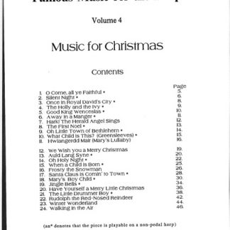 Famous Music for the Harp 4 (Christmas)
