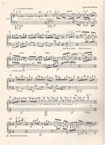 MORITA Yasunoshin : Four windows with liths for Solo Harp