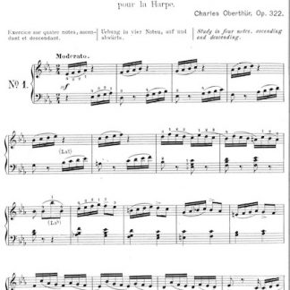 OBERTHÜR Charles : 12 Exercices Op. 332