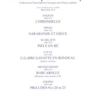 RENIE Henriette : Classiques de la harpe, recueil n° 2