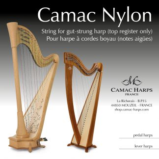 Nylon for Gut-Strung Lever Harp Top Strings