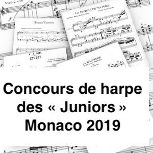 """Concours de harpe des """"Juniors"""" 2019 (Monaco)"""