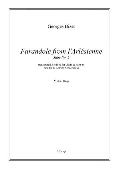 BIZET Georges: Farandole from L'Arlésienne, transcription by Nandor et Katrina Szederkenyi for violin and harp