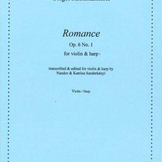 RACHMANINOFF Sergei : Romance, Bearbeitung von Nandor und Katrina Szederkenyi für Violine und Harfe