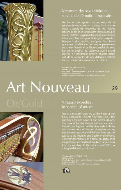 Pedalharfen-Katalog (auf Englisch/Französisch)