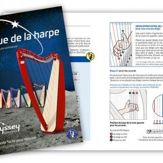 """""""Je joue de la harpe"""", méthode spécialement conçue pour accompagner la harpe Odyssée à 27 cordes."""