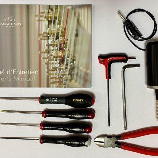 Werkzeuge für die Wartung von Camac-Pedalharfen