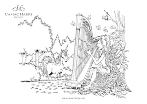 Harp colouring picture
